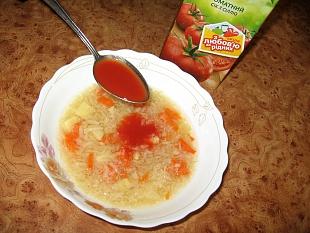 Томатный суп из сельдерея без зажарки